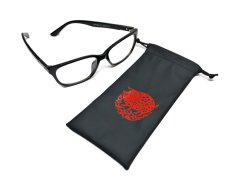 Leather glasses pouch